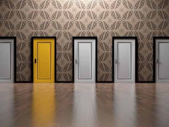 yellow and white doors