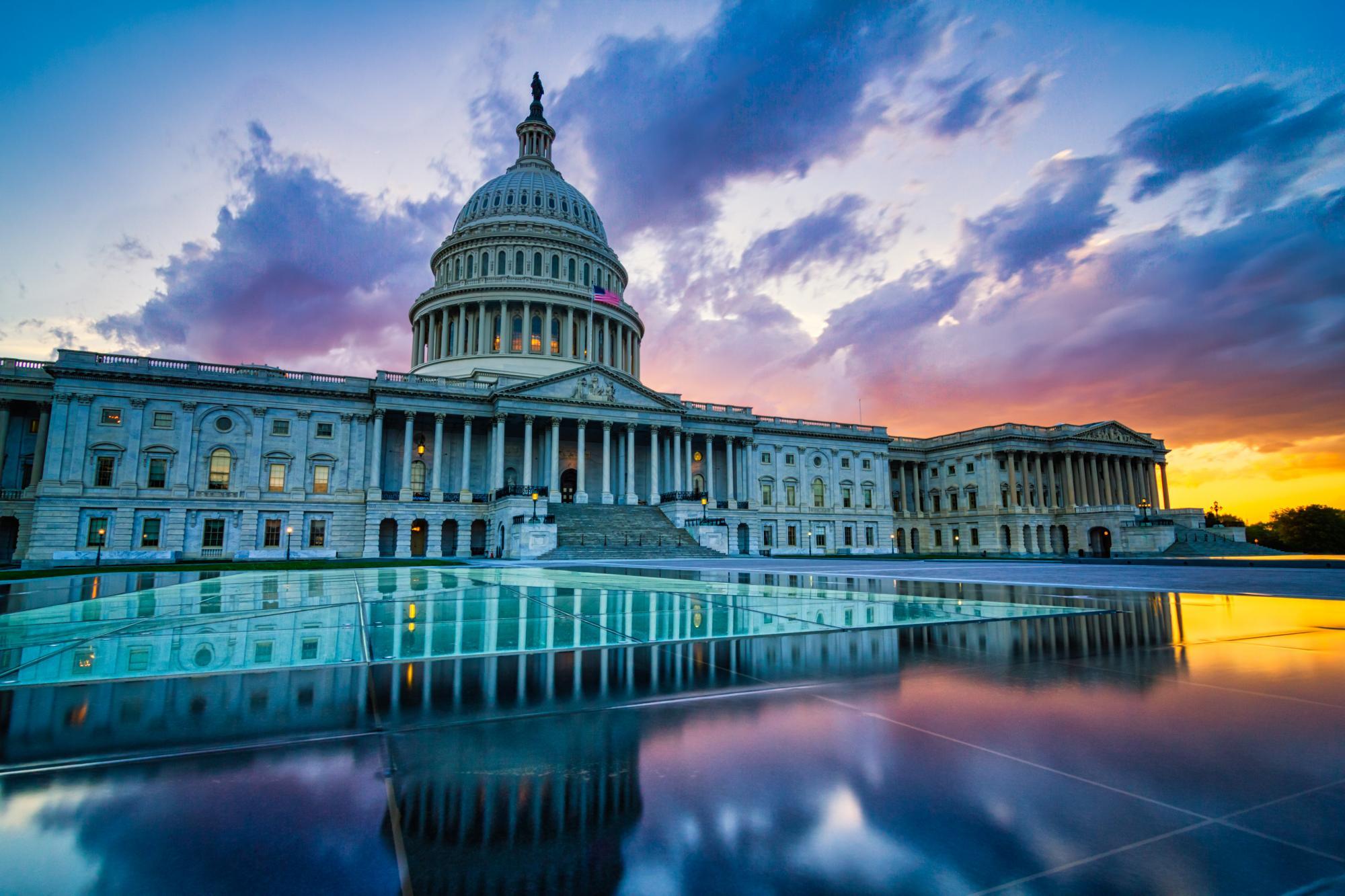 DC at dusk